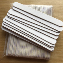 Бесплатная доставка, 50 шт., пилка для ногтей из белого дерева 100/180, пилка для ногтей, инструмент для маникюра