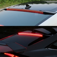 For Honda Civic LED Spoiler 10th 2016 2017 Car Styling ABS black Rear Trunk Wing Boot Lip Roof Spoiler Decoration