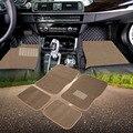 Универсальные Автомобильные Коврики для Авто 4 шт. Ковер Semi Custom Fit Heavy Duty Pad Бежевый Водонепроницаемый нескользящей