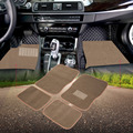 Universal Car Floor Mats for Auto 4pc Carpet Semi Custom Fit Heavy Duty Pad Beige Waterproof Non-slip