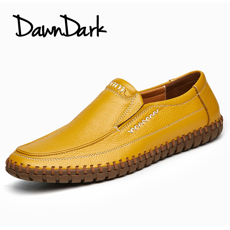 Mode Véritable brown De On Homme blue Mocassins Taille Black Chaussures Printemps yellow Hommes Luxe En white Cuir Décontractées Mâle Souple Plats D'été Slip Grande edCxBo