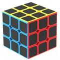 Zcube Engomada de la Fibra de Carbono 3x3x3 Velocidad Cubo Mágico Puzzle Cubos Juguetes Educativos para Los Niños Embroma