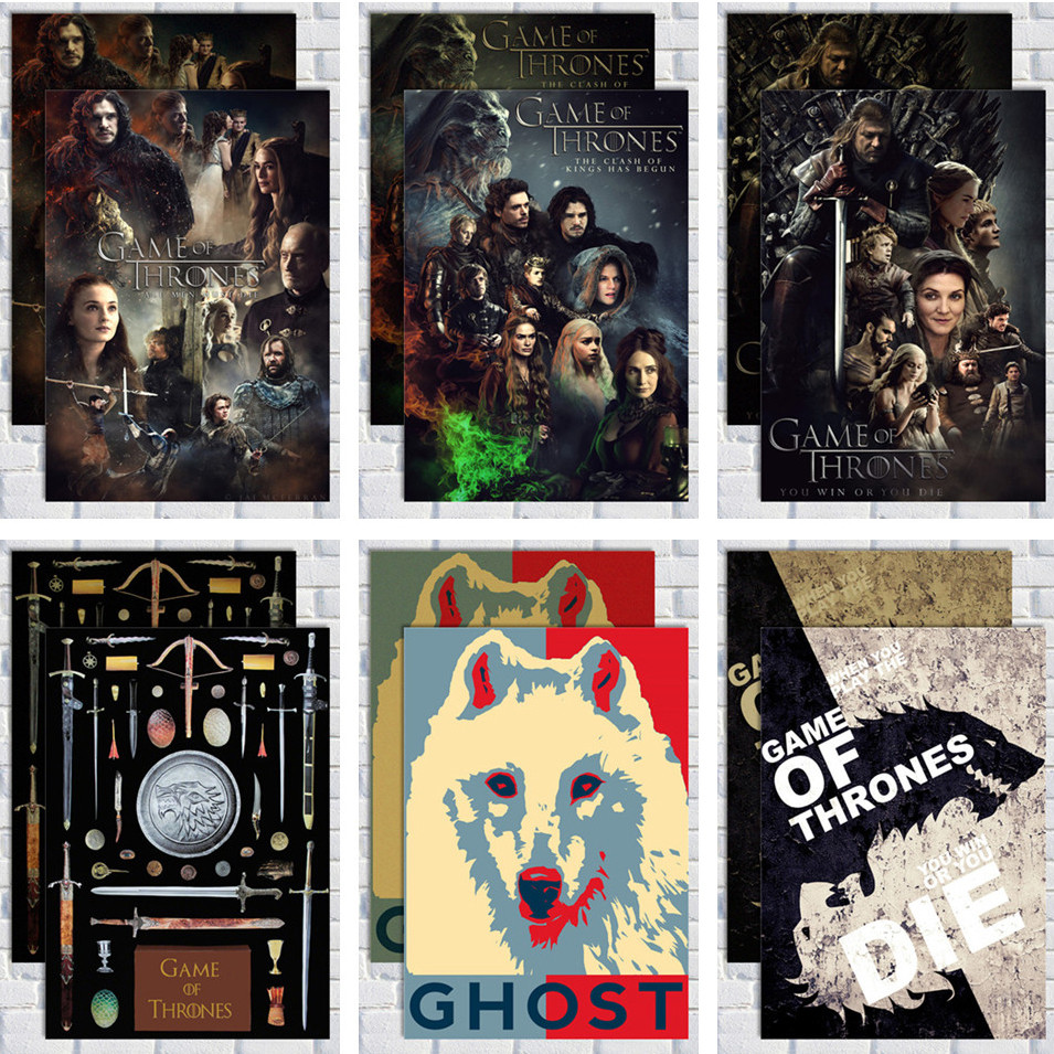 Game of Thrones Poster Vintage Kraft Paper Poster Bar Cafe Decorative Painting