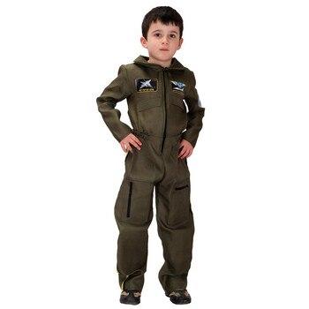 Bambini Halloween aviator Pilot Costume Ragazzo Poliziotti Cosplay Bambini forze Speciali uniforme gioco di Ruolo Carnevale Purim party dress