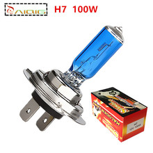 Free Shipping 4pcs  H7 Super Bright White Fog Halogen Bulb Hight Power 100W Car Headlight Lamp