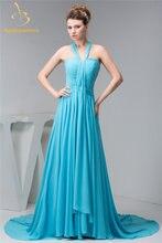Женское шифоновое платье трапеция с рюшами открытой спиной