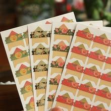 96 pcs/lot 4 sheets Vintage flowers Corner Paper DIY Stickers for Photo Album Scrapbooking Protect photo Frame albums Decoration