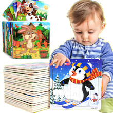 Toys for Baby Puzzle game Colorful Wooden Animal Educational Developmental Baby Kid Training Toy Educational Toy Gift стоимость