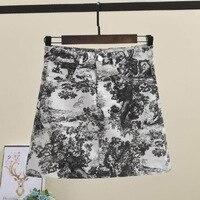 Luxury Brand Style A Line Women Mini Skirt 2019 New Tiger Print Women Summer Designer Skirt Female Causal Short Skirt