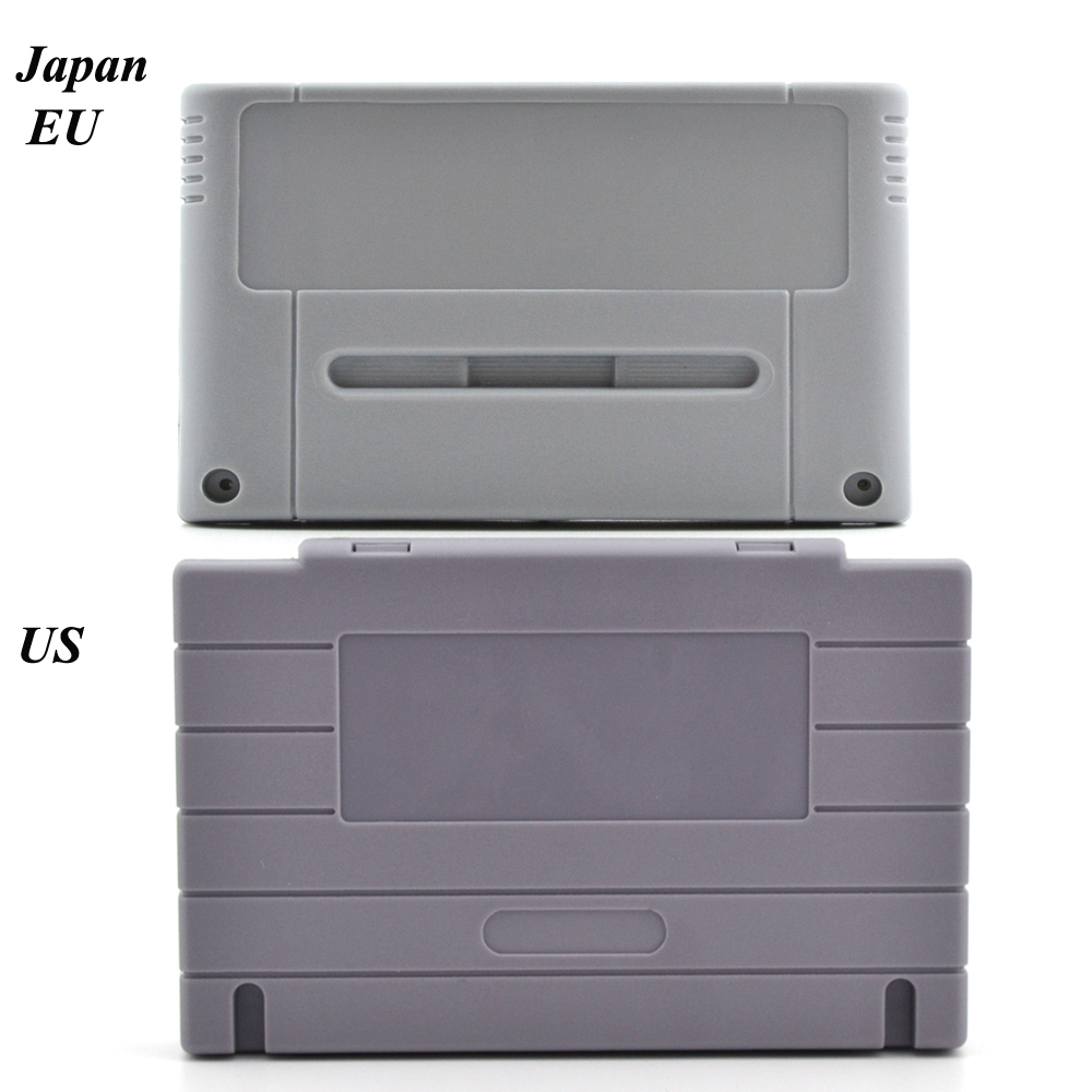 Game Cartridge Replacement Shell Shell Untuk SNES game Console card 16bit shell game shell (US / JP / EU Version)
