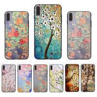 IMIDO toile peinture texture couverture noir pour Iphone 5 5 S SE 6 6 S 6plus 6splus 7 8 7plus 8plus X XS XR XSMAX