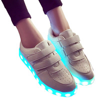 Luminous Sneakers Women Illuminated Glowing Shoes Led Children Girl Shoes Kids Sneakers Lights Bambas Led Tenis Led Infantil