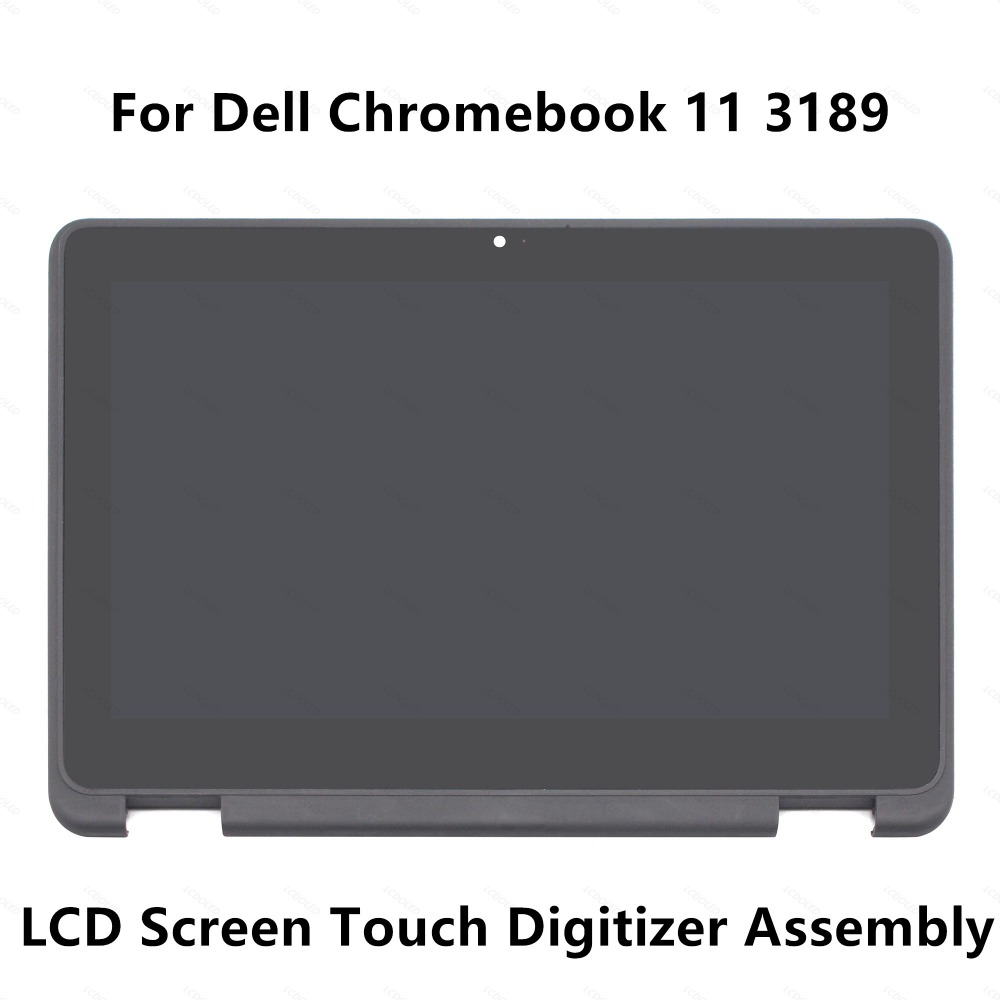 For Dell Chromebook 11 3189 Full LCD Display Screen Touch Glass Digitizer Panel Assembly +Bezel / Frame NV116WHM-N43 1366x768 13 3 touch glass panel digitizer lcd screen display assembly bezel for asus q303 q303u q303ua series q303ua bsi5t21 1366x768