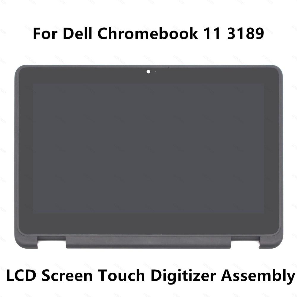 цена на For Dell Chromebook 11 3189 Full LCD Display Screen Touch Glass Digitizer Panel Assembly +Bezel / Frame NV116WHM-N43 1366x768