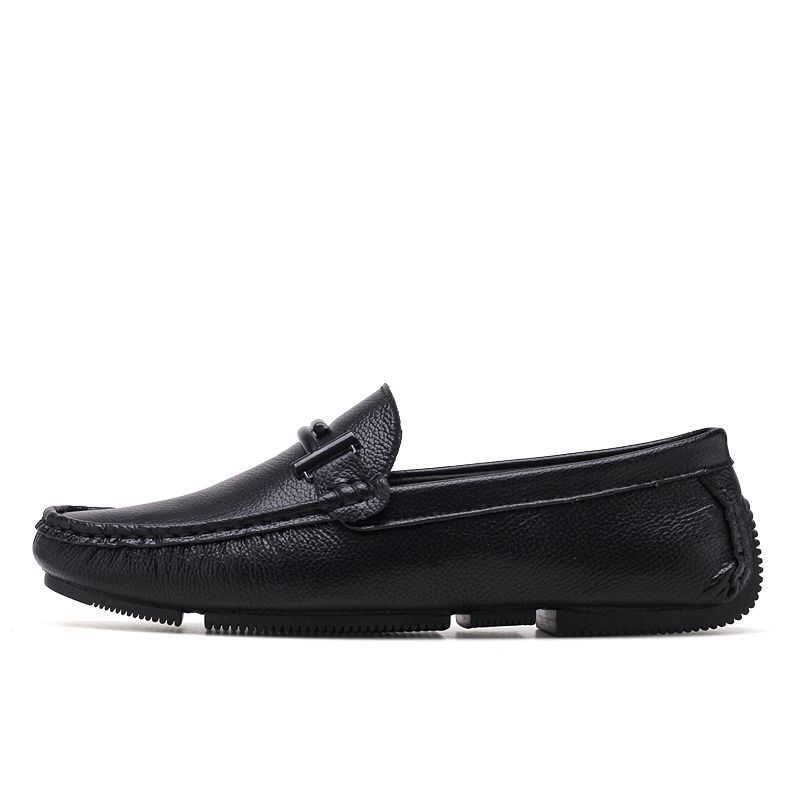 Italien Formelle Hommes En Conduite Noir Marques Luxe Mocassins De Véritable Black white Jkpudun Cuir Slip Chaussures Casual Sur UF0Fgqdn