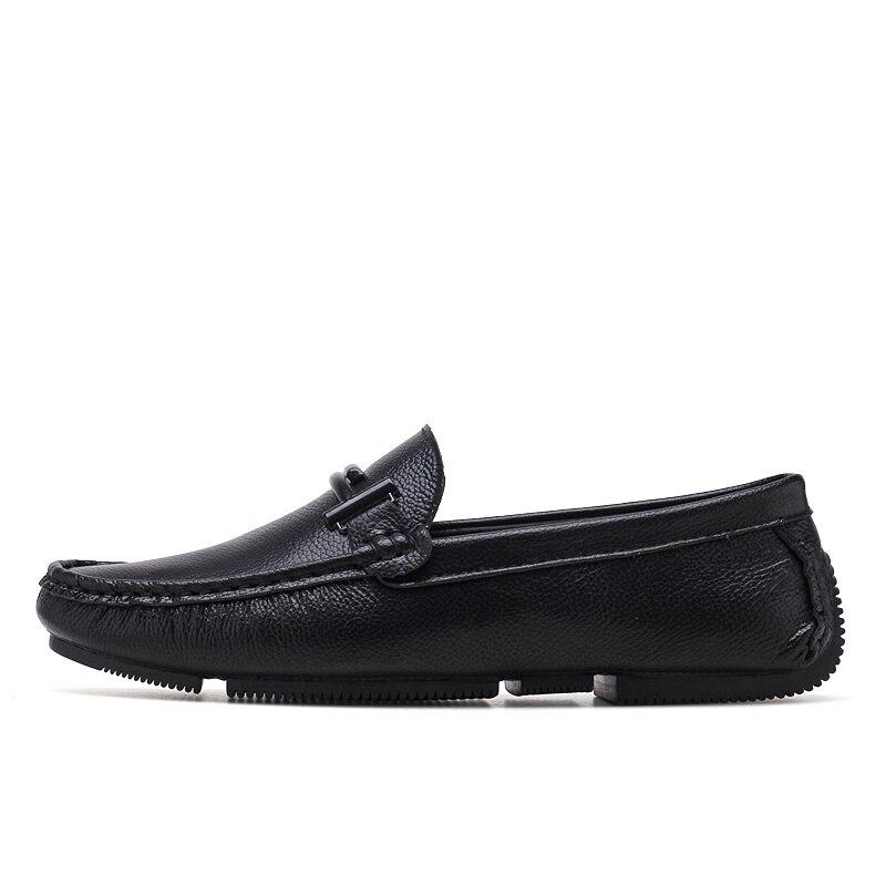 abdc3b50621c9 JKPUDUN zapatos italianos para hombre marcas casuales Slip On Formal zapatos  de lujo hombres mocasines cuero genuino negro zapatos de conducción en ...