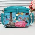 Women Handbags Women Vintage 3D Colorful  Printing Messenger  Bag  Bolsa Feminina  Cartoon Girl  Clutch Crossbody Bag