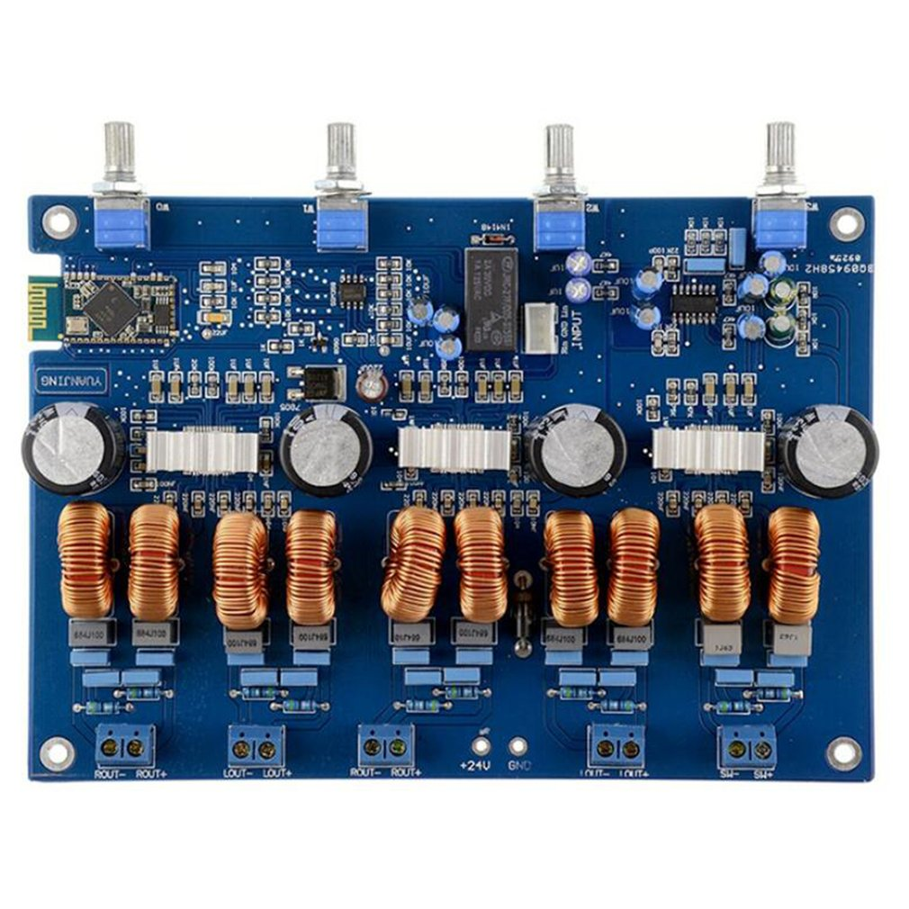 TPA3116 4.1 Bluetooth Amplifiers Audio Board Digital Class D Amplifier 4*50W+100W Amplificador Audio 24V Car Subwoofer