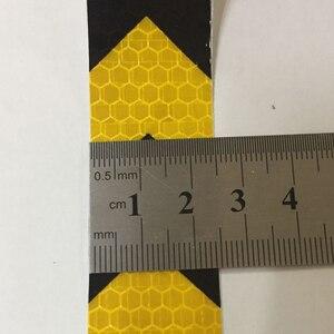 Image 2 - 25mm x 10m decoração do carro marca de segurança motocicleta fita reflexiva adesivos estilo do carro para automóveis material seguro
