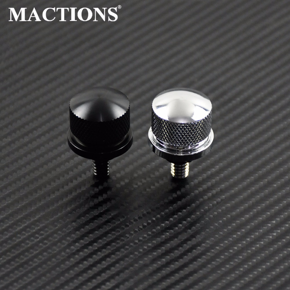 Black Chrome Rear Seat Bolt Stainless Steel Fender Bolt Screw For Harley Sportster Touring Dyna Softail Street Glide 96-15(China)