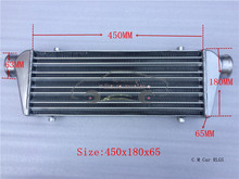 size:450 x 180 x 65 mm,Car modification power suite tank, intercooler, AIR COOLER, AFTERCOOLER is suitable for all Car models
