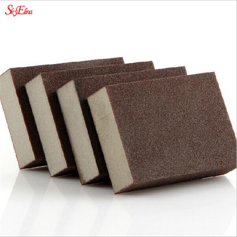5pcs/1pcs 100*70*25mm High Density Emery Magic Melamine Sponge For Cleaning Homeware Kitchen Sponge Removing Rust Rub 5Z