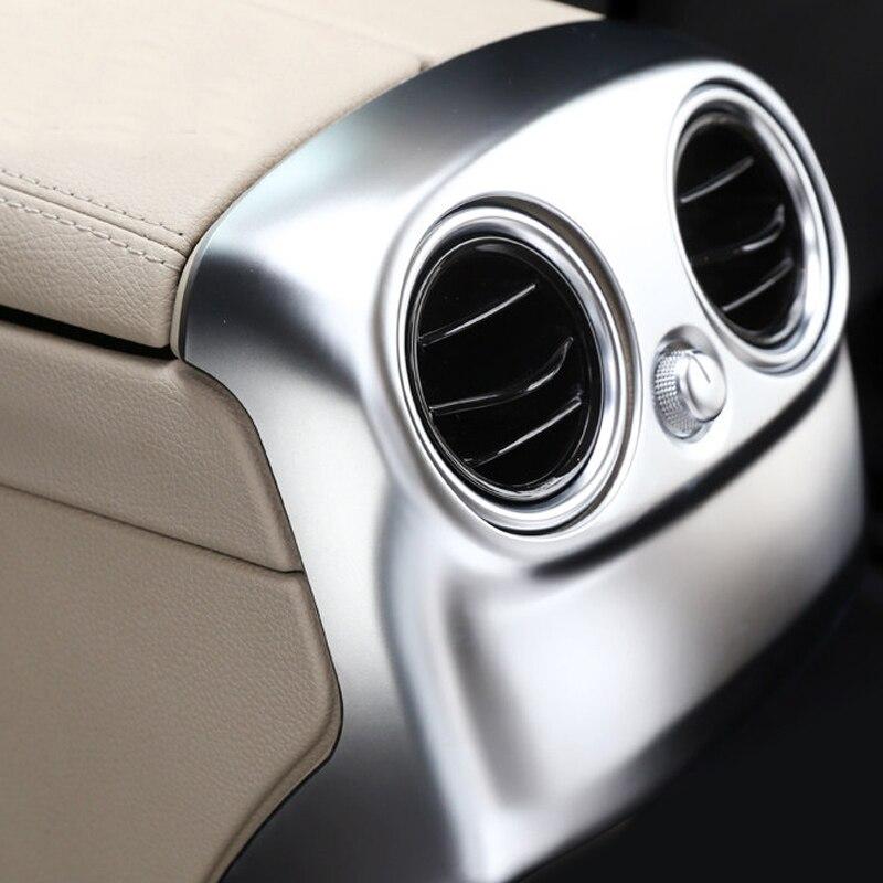 Car Styling 2pcs ABS Matte Interior Rear Armrest Box Air Vent Outlet Cover Trim For Mercedes
