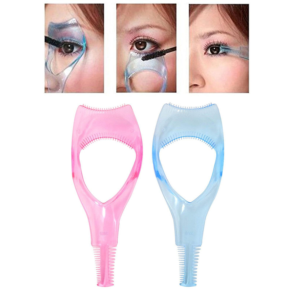 Girl Crystal 3 in1 Eyelash Card Makeup Eye Mascara Eyelash Eyelash extension Comb Plastic Applicator Guide Card Mini Tools