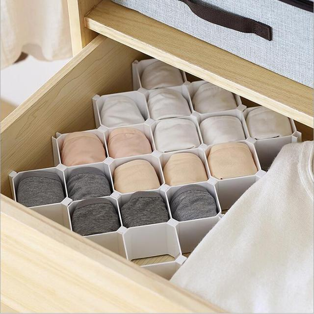 1 PC Home Storage Organization Storage Drawers Underwear Socks Tool Organizer Sorting Box Honeycomb Partition