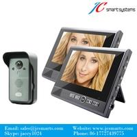New House Video Intercom Wireless Video Door Phone Wireless Video Doorbell With 3400mAh Battery 2 Monitors