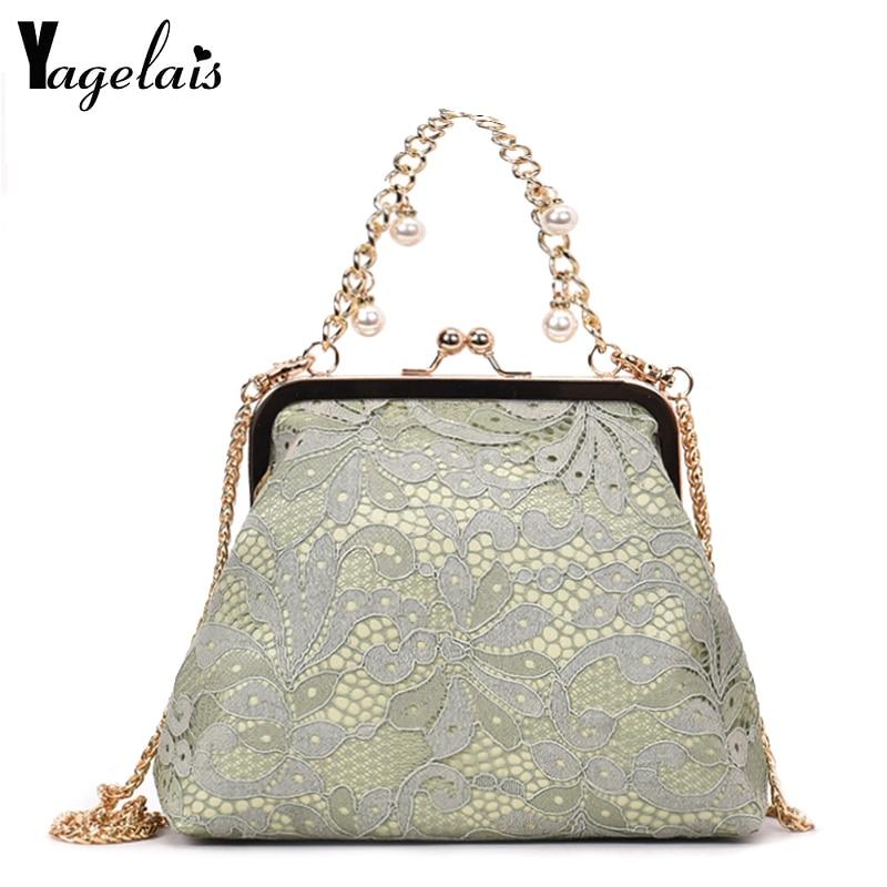 2019 Chian Bags Elegant Women's Flap Bag Woman Lace Mini Crossbody Shoulder Bags Female Handbag And Purse Bolsa Feminina