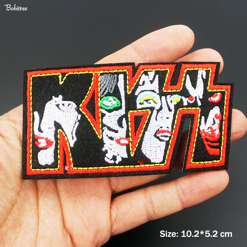 METAL MUSIC SEW ON /& IRON ON PATCH:- KISS POP PUNK ROCK