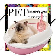 Large Cat Litter Box Double Indoor Pet Toilet Training Lettiera Gatto Cofre Litter Boxes Kat Toilets For Cats Pet Potty QQM2271