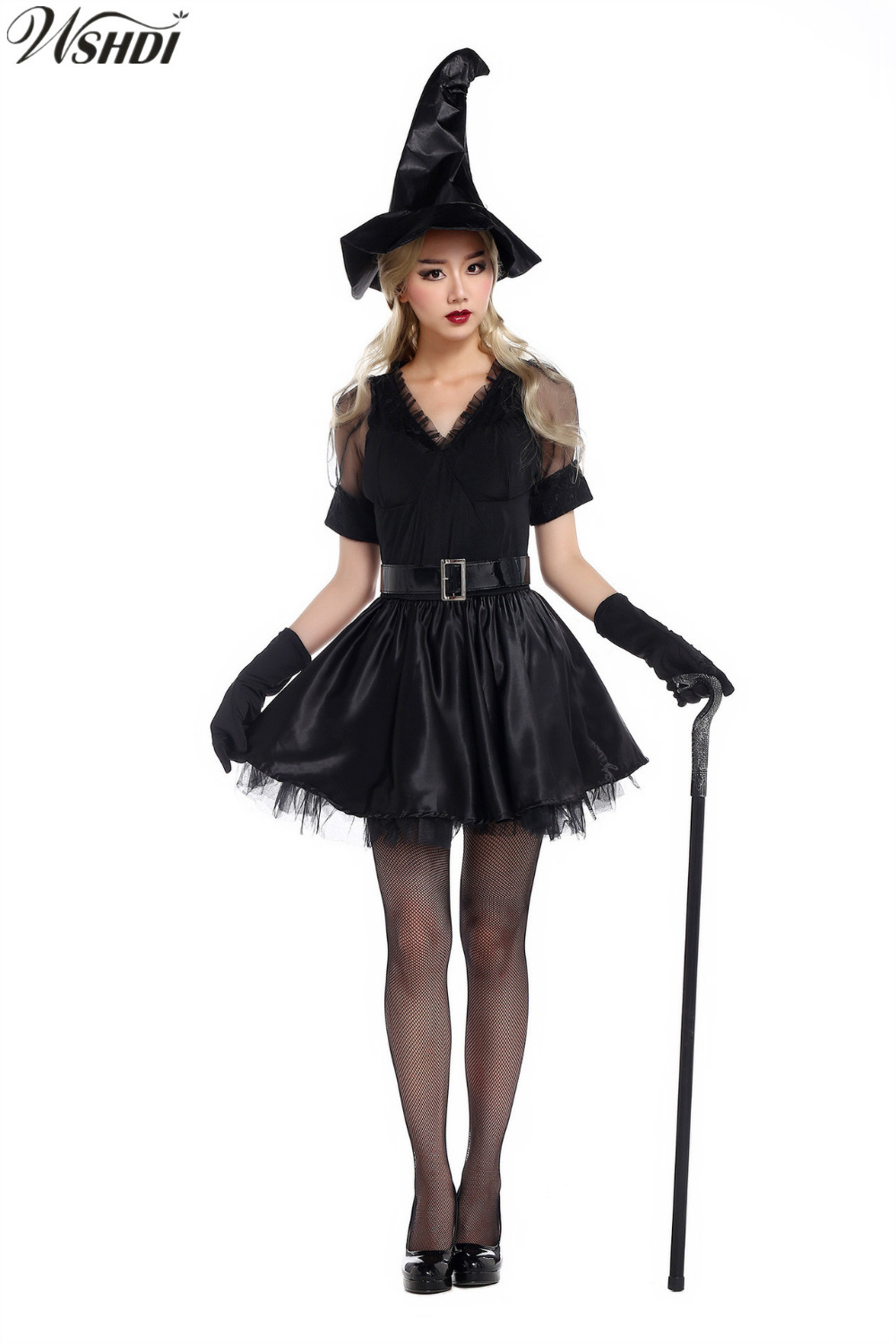 Deluxe Women Sexy Black Witch Costume Adult Halloween ...