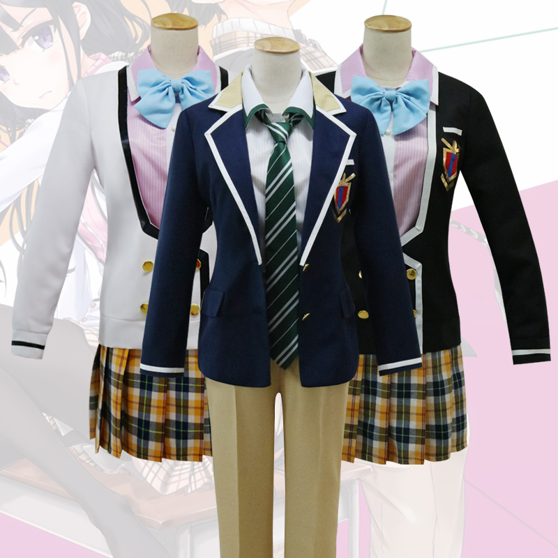 New Anime masamune kun no revenge Makabe Masamune Adagaki Aki Cosplay Costume School uniform