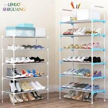 Sapato cremalheira fácil montado de plástico várias camadas sapatos prateleira organizador armazenamento suporte manter o quarto limpo porta economia espaço