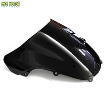 цена на Black Windshield / Windscreen Double Bubble For Suzuki GSXR GSX-R 600/750 K1 2001 2002 2003