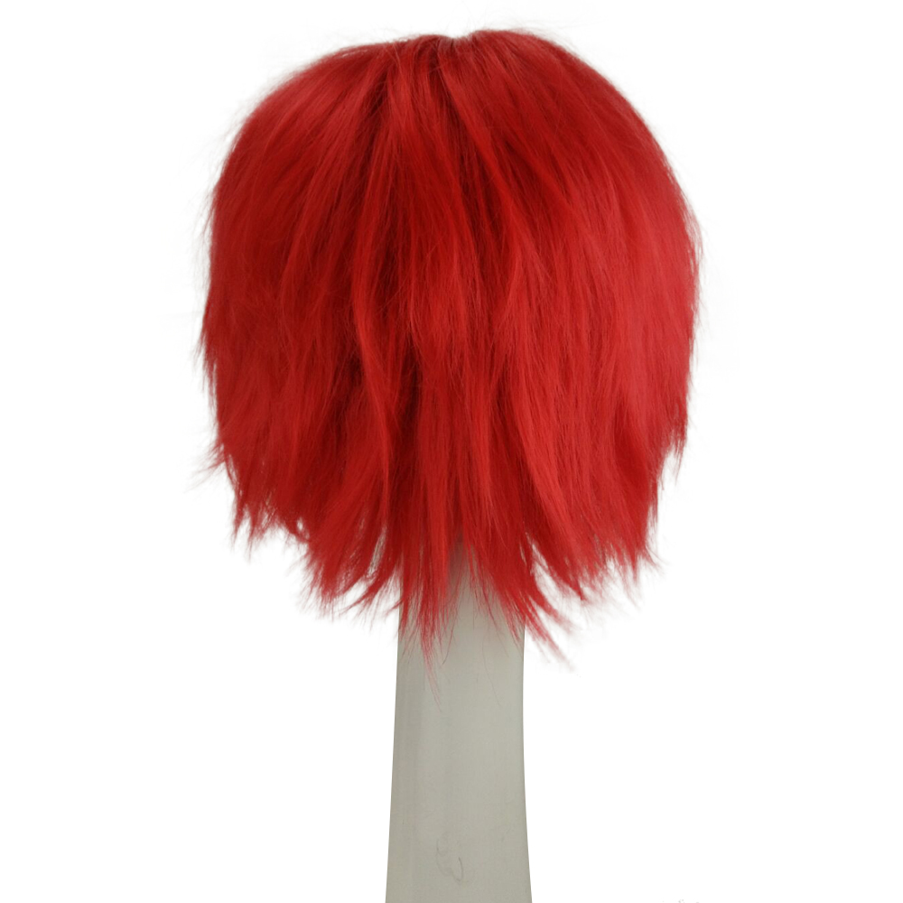 HAIRJOY Red Green Blue Brown Pink Orange Cosplay Wig Man's Layered  Short Straight Synthetic Hair Wigs   Free Shipping 2