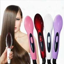 50 pcsTV Simply Hair Straight Ceramic Electric Brush Fast Hair Straightener Comb Tourmaline Smooth Straightener Brush Hair Irons