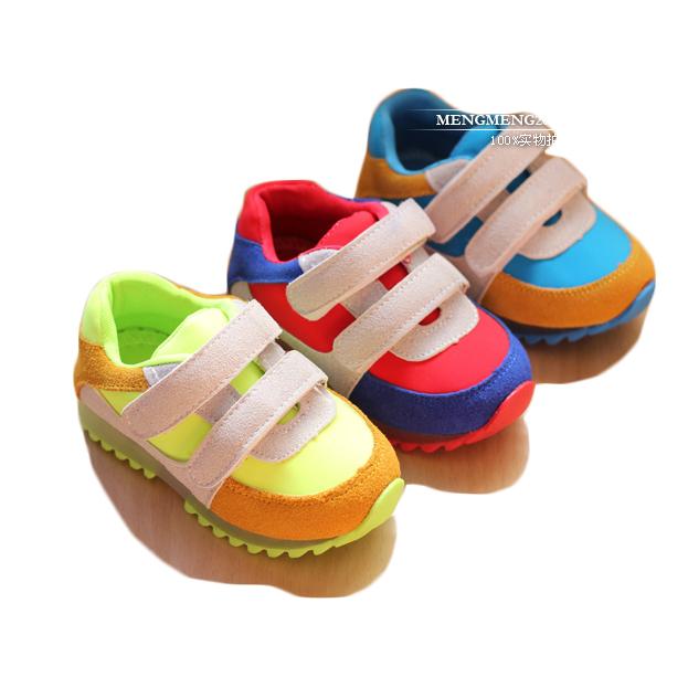Moda cómoda niños zapatos niñas niños zapatos niño del bloque del color de los zapatos ocasionales de niños niños zapatillas niñas zapatos