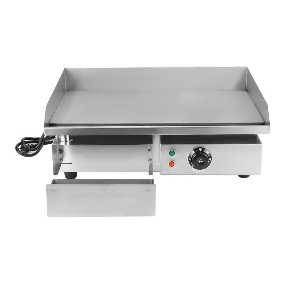 Commercial electric oven 1500W electric food oven CNC stainless steel restaurant grill stove table steak machine US plug