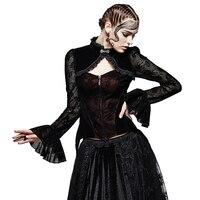 Gotik Seksi Kadın Akın Dantel Ceket Bandaj Uzun Dantel Bayanlar Elbise Coats Punk Korse Kısa Ceket Abiye Bluz Tops