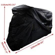 Polyester Taffeta Black Bike Motorcycle Covers L Dust Waterproof Outdoor Rain UV Protector Motorbike UV Cover