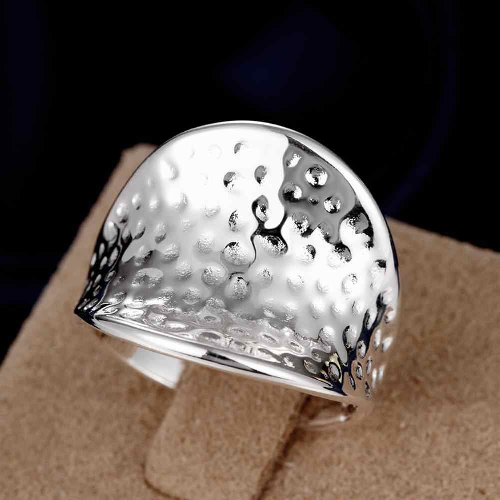 Charmings Style Big Thumb Ring Unisex Silver Plated Rings for Anniversary Party Fashion Dot Jewelry 2019 New Anel Women Men