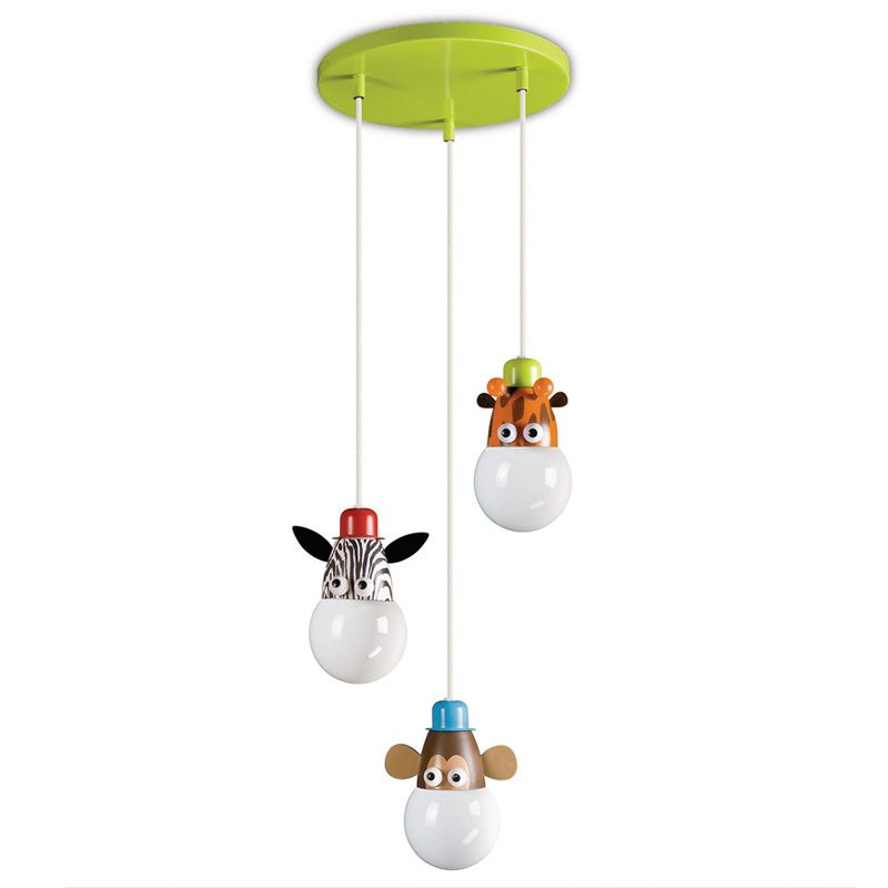 Cartoon Animal Kid's Room Pendant Lamp Creative Baby Room Pendant Light Child Bedroom Hallway Pendant Lights