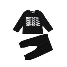 Infant Baby Boy Girl Letters Clothes Sets Babies Long Sleeve T-shirt Tops+Pants Outfits Clothing Set 0-24M 2019 autumn children clothing sets newborn infant long sleeve baby boy letters printing t shirt stripe pants kids clothes 2 pcs sui