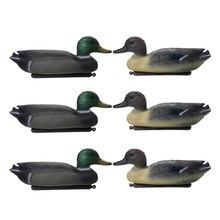 6 шт. 3D Реалистичная утка приманка плавающая приманка w/киль для охоты на открытом воздухе Рыбалка привлечения уток