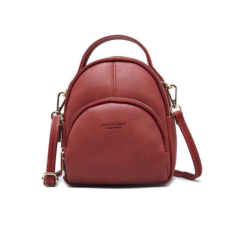 91a38ae69 Multifunction Mini Backpack Women Anti Theft Small Soft Artificial Leather Backpacks  Purse Female Ladies Shoulder Bag