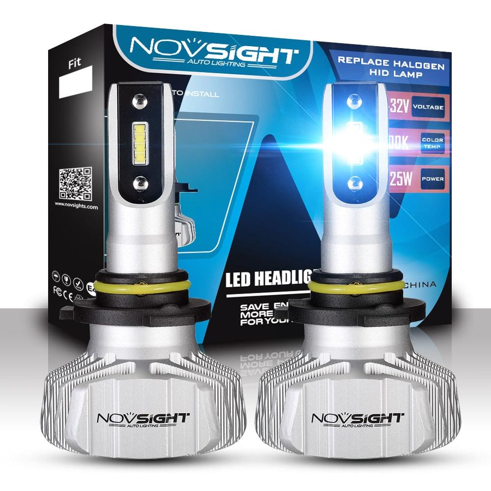 NOVSIGHT Car H7 LED Headlight Bulbs H1 H4 H7 H11 9005 9006 50W 10000LM LED Light All-in-One Conversion Kit 6500K 12V 50w universal car truck 9004 led headlight conversion kit lamp h l 1800lm