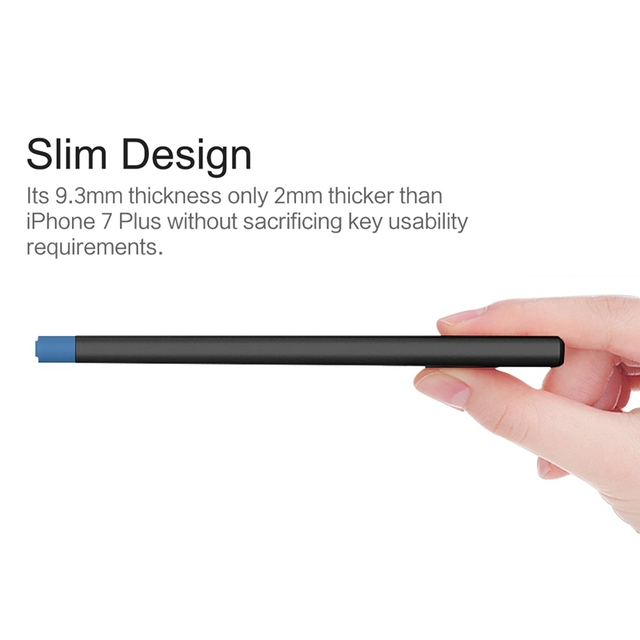 Slim 10000 mAh Power Bank, ROCK Portable Ultra-thin Polymer Metal Alloy Powerbank battery power bank 10000mah